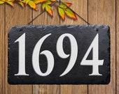 House Number Plaque, Hanging House Number Sign , House Warming Gift, House Number Sign, House Décor, Address Sign