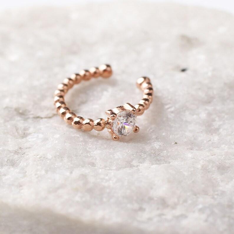 Women Handmade Rose Gold Circle Diamond Zircon Earring Handmade 925Silver Woman Zircon Earring,Zircon Women Earring,Design Woman Silver
