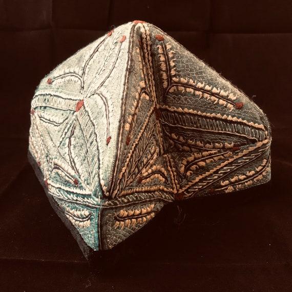 Vintage Uzbek National skullcap 40s