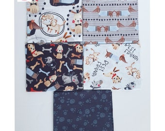 Dogs Commands 100/% Cotton Sold By Fat Quarters Only