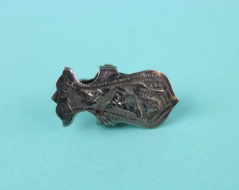 NEW Sterling Silver NAPKIN Holder Hook Boxed ONYX