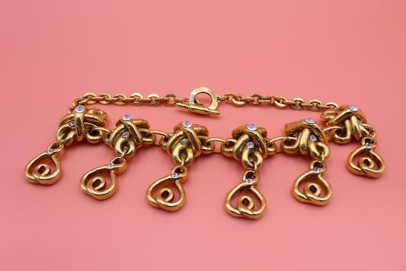 Claire Deve Paris designer gold tone statement ch… - image 5