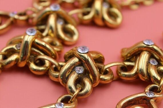 Claire Deve Paris designer gold tone statement ch… - image 7