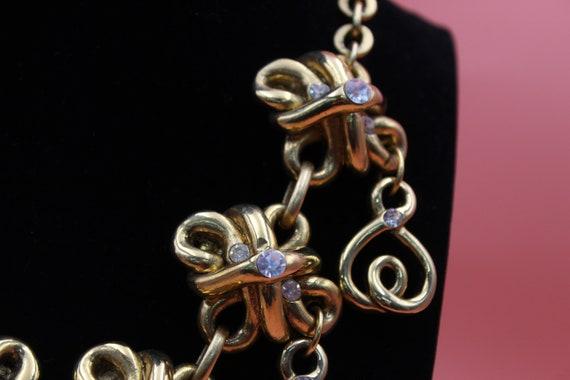 Claire Deve Paris designer gold tone statement ch… - image 4