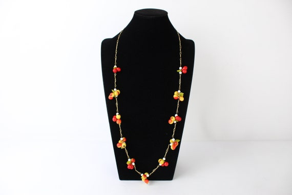 Vintage 1960's kitsch plastic fruit necklace