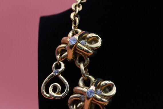 Claire Deve Paris designer gold tone statement ch… - image 2