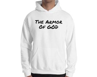 0d5fc402 Men's Hoodie, Men's Sweatshirt, Christian Hoodie, Armor of GOD