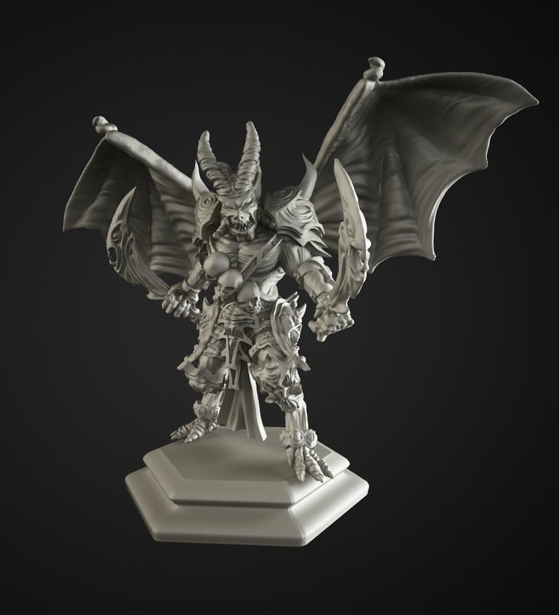 Demon King fine detail resin miniature 28mm scale