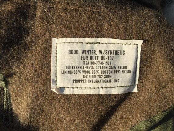 OG107 M65 Jacket with Fur Hood & Liner Size M, L,… - image 9