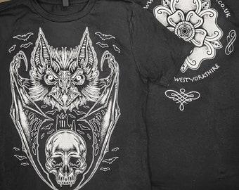 Dracula Bat Whitby Goth T-Shirt