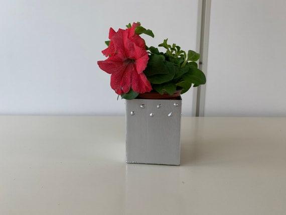 Overpot Flowers Stainless Steel Handmade Welding World Art Etsy