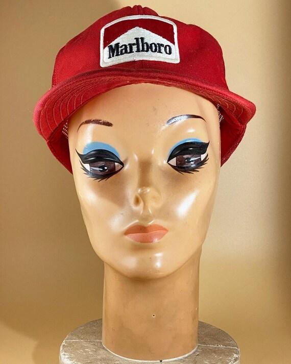 Vintage Marlboro Trucker Hat Red Snapback