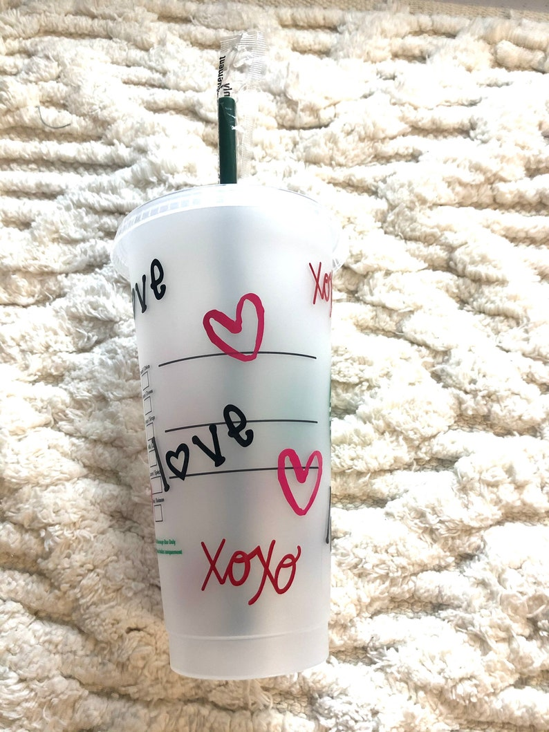 XOXO Cup XOXO Love Reusable Tumbler Cold Cup Valentine\u2019s Day Gift