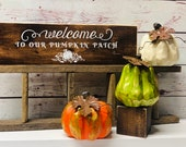 Welcome To Our Pumpkin Patch Wood Sign-Fall Décor-Custom Wood Sign-Rustic Wood Sign-Farmhouse Décor-Pumpkin Décor-Pumpkin Patch Wood Sign