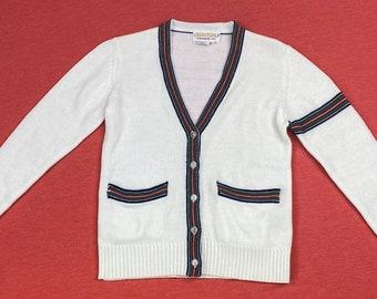 Jigsaw cotone cashmere Pointelle Maglione da Uomo Nuovo Blu Navy