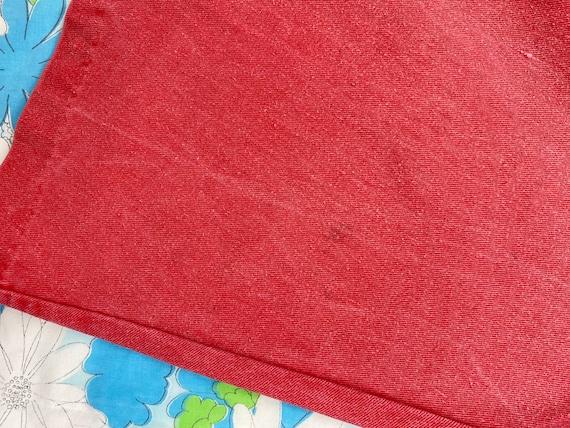 1970s Denim Gaucho & Vest Set, 70s Red Pink Jeans… - image 9