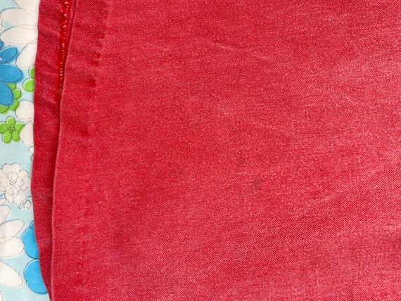 1970s Denim Gaucho & Vest Set, 70s Red Pink Jeans… - image 8