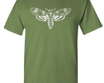 a8bb31d05ee9 DEATH'S HEAD MOTH - hipster retro style - Cotton Unisex T-Shirt
