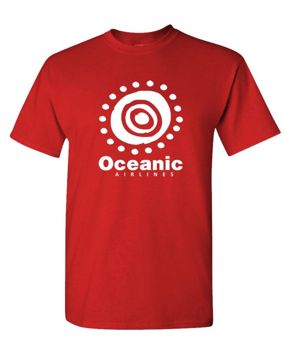 OCEANIC AIRLINES Unisex Cotton T-Shirt Tee Shirt