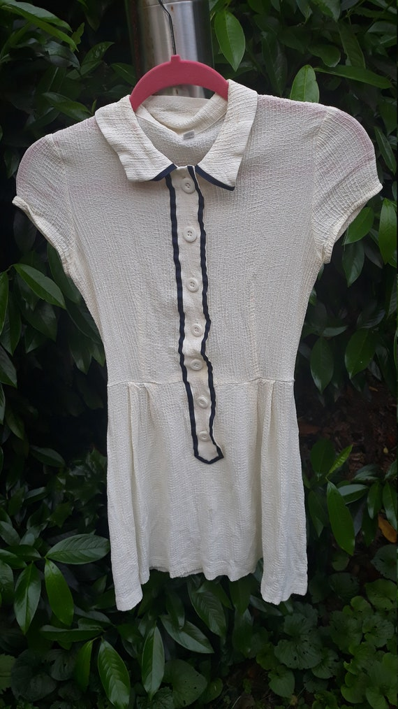 1950s Collared Button Up Tennis Dress