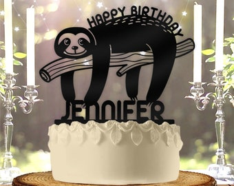 Sloth cake topper | Etsy