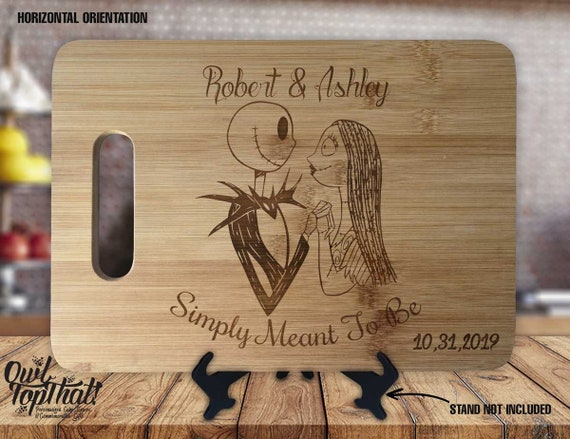 Jack and Sally Personalized Engraved Cutting Board