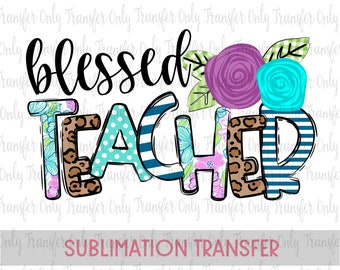 Dedicated Teacher Even From A Distance Sublimation TransferReady To Press