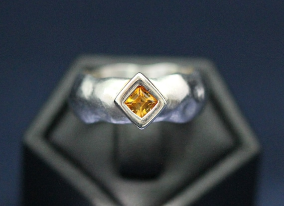 Silver and Citrine ring (LS0225)