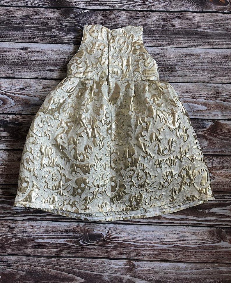 baptism dress gold blessing dress Christening gown gold christening dress baptism gown gold dedication dress blessing gown