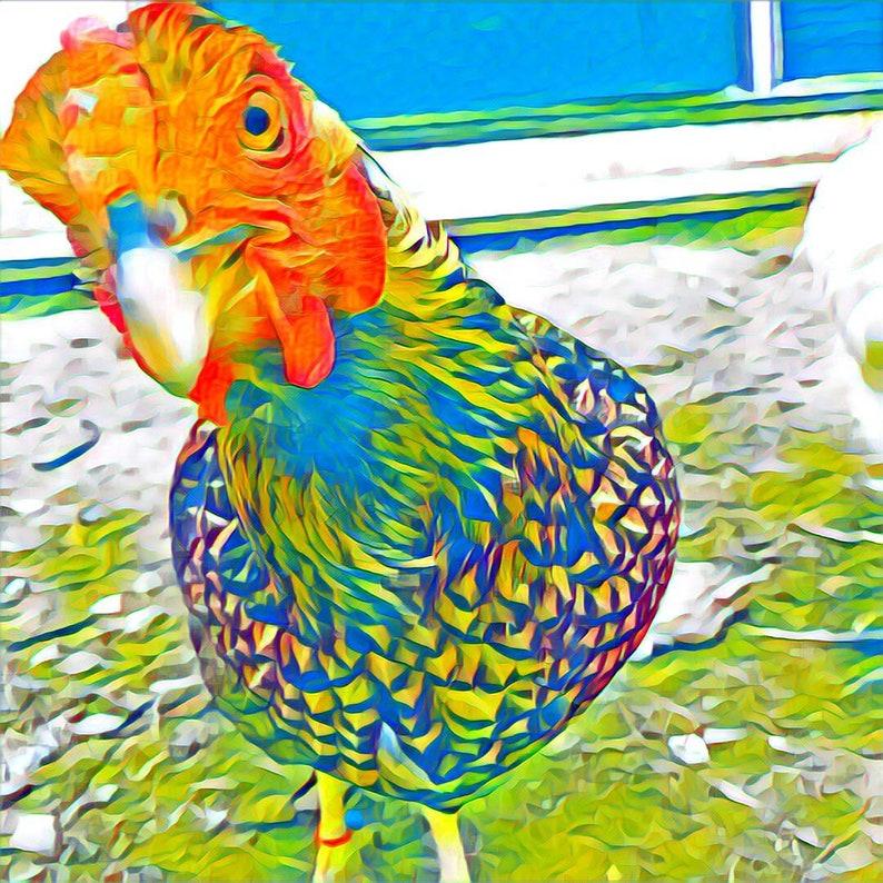 ColorfulPop Art Custom Digital Pet Portrait Canvas or Print