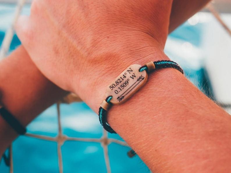 Coordinate Bracelet  Couples Bracelet  Long Distance Combi (Choose 2)