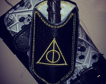 Deathly Hallows Embroidered Wand Holder