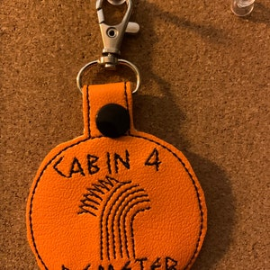 Cabin 10 Aphrodite Embroidered Keychain