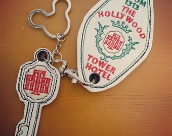 Tower of Terror Room Key Embroidered Keychain