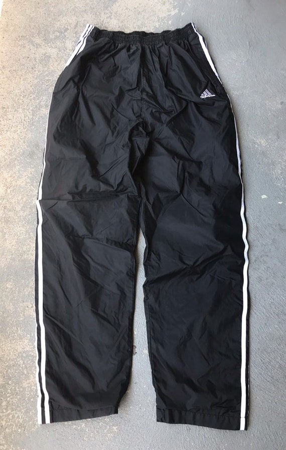 Details about Vintage 90s Adidas Tear Away Clip On Tracks Pants Size Large Mens