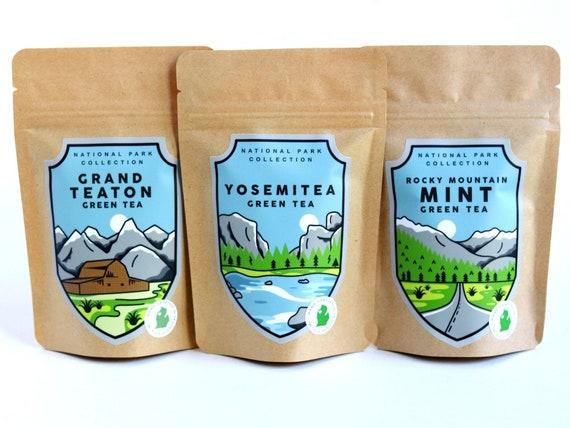National Park Tea Gift Box  Handcrafted Loose Leaf Tea Box