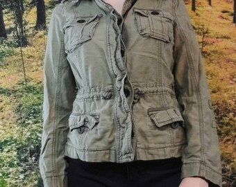 add5542cef4b9 Abercrombie & Fitch green military army jacket.