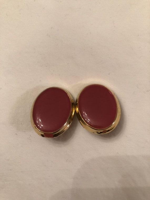 Pink enamel teardrop clip on earrings  80s earrings  clip on earrings  cocktail dress  statement earrings  tear drop