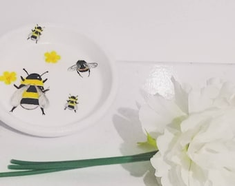 41b7c45b1084 Bee trinket dish,ring dish ,unique trinket dish, jewellery dish,gifts for  her,bits and Bob's dish