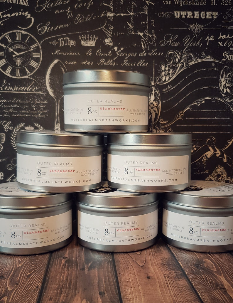 Outer Realms Candles Winchester Mystery Candle Cryptid Candle Travel Candle | Natural Soy Candle