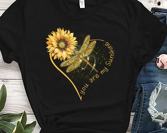 4d3fb8be2c31c you are my sunshine sunflower butterfly Hippie unisex t shirt Hippie Soul  Shirt