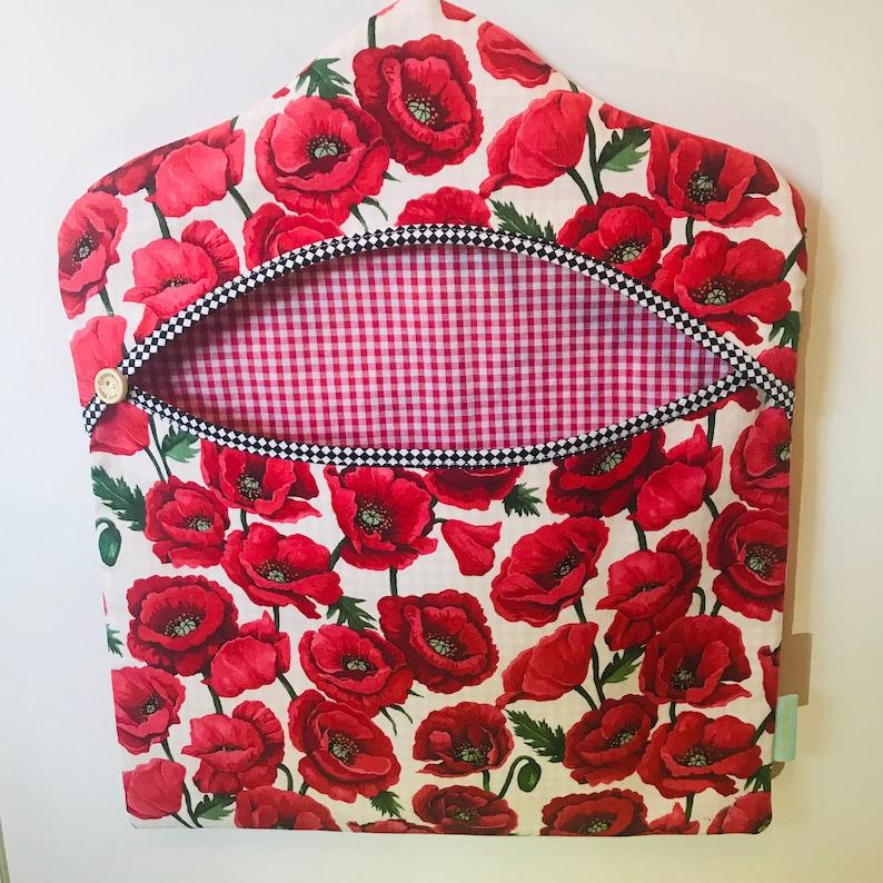 Handmade Clothes Peg Bag Clothes Pin Bag Poppies Poppy Peg Bag image 0