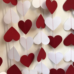 Hearts garland 3.6 metre bordeaux wedding ceremony decoration bathroom