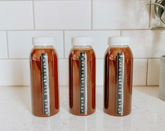 Real Pumpkin Spice Syrup With Organic Cane Sugar | Homemade | 8oz | 16oz | *please read description*