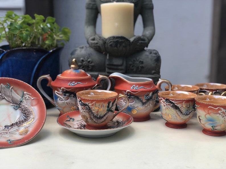 Vintange Betson's Moriage Dragonware Full Tea Set