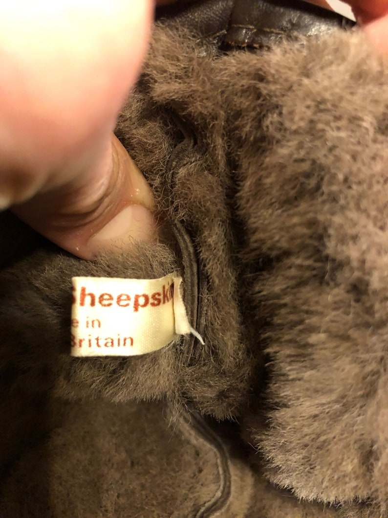 Genuine Sheep Skin Cabbie News Boy Hat Size Mens Large
