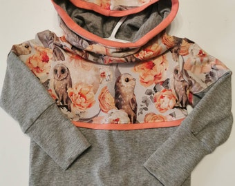 Owl and coral evolutionary hoodie