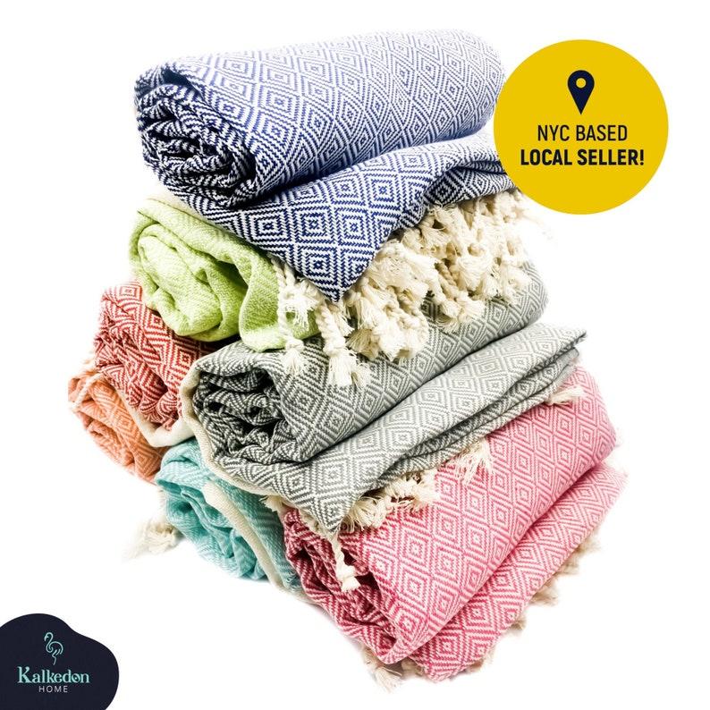 Turkish Towel  Beach Towel Personalized Gifts Bachelorette image 0