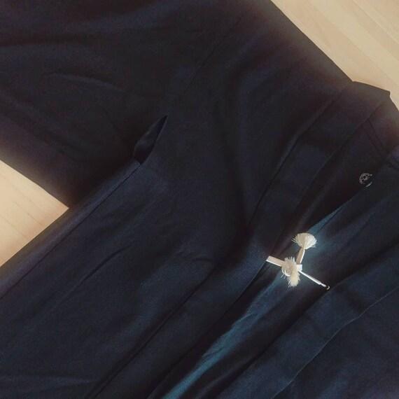 Chic black kimono jacket