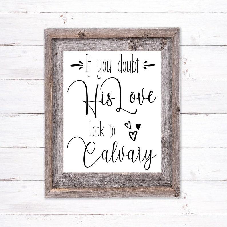 Printable Wall Art about Calvary image 0